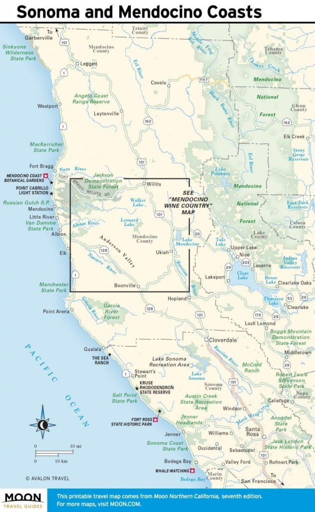 Printable Travel Maps Of Coastal California In 2019 | California - Printable Road Trip Maps