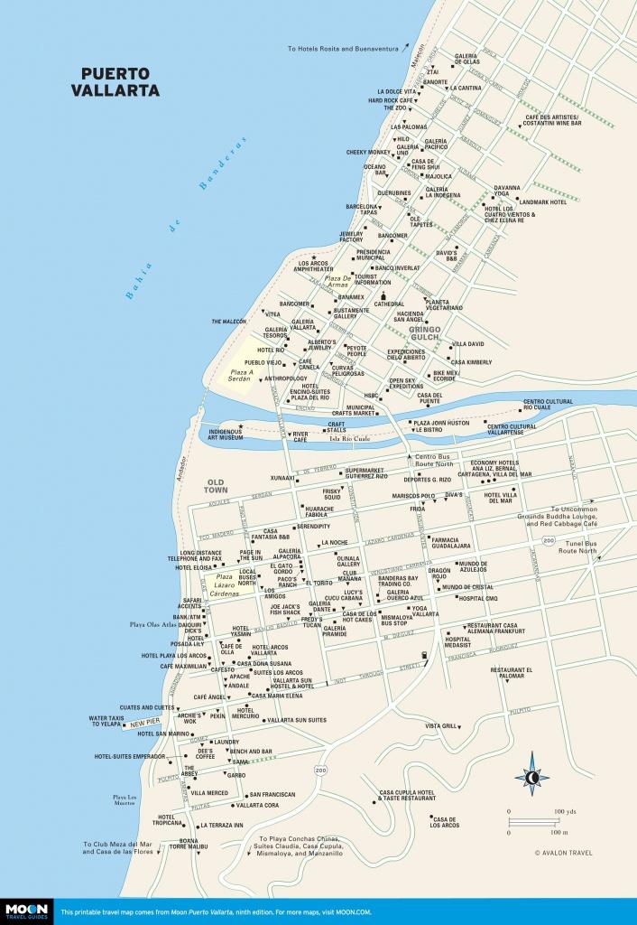 Printable Travel Maps Of Puerto Vallarta | Bucket List Or Anywhere - Puerto Vallarta Maps Printable