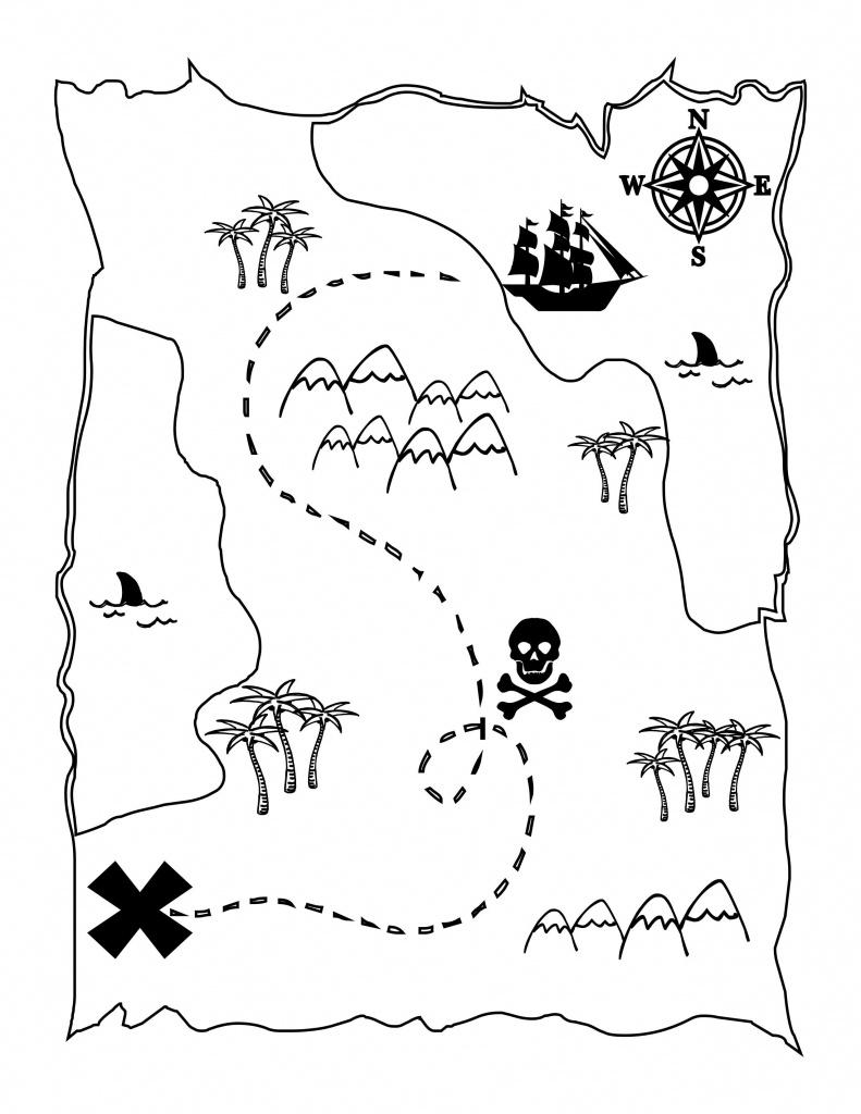 Printable Treasure Map Kids Activity | Printables | Pirate Maps - Printable Pirate Maps To Print
