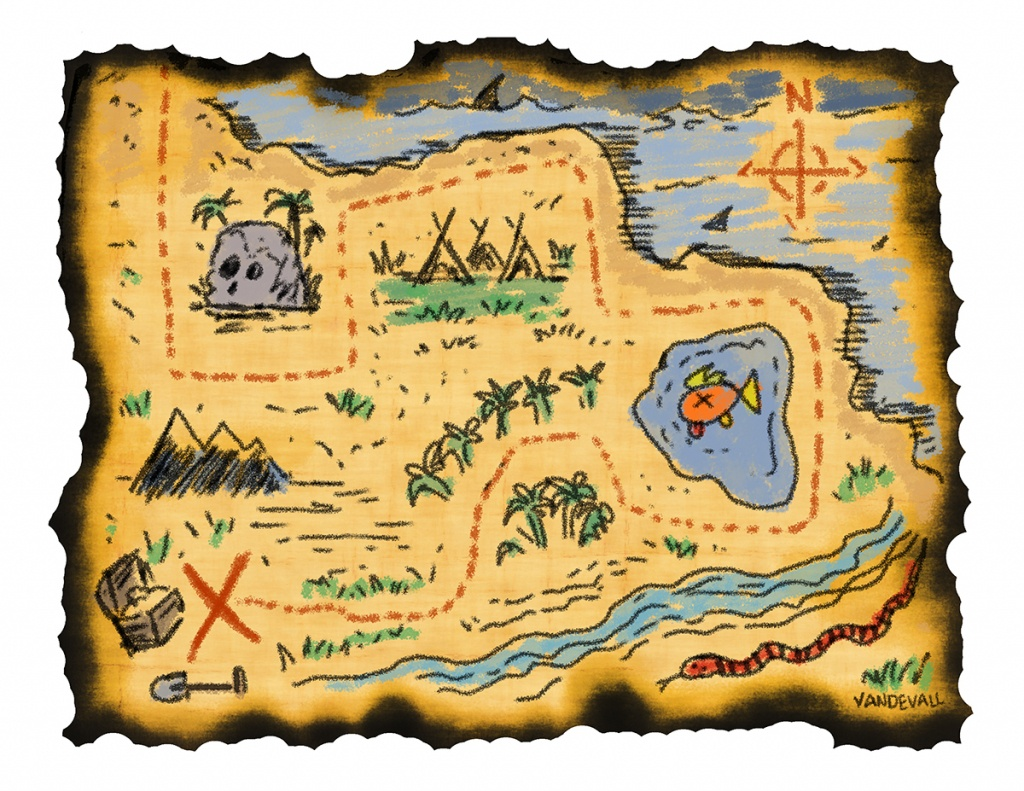 Printable Treasure Maps For Kids - Free Printable Pirate Maps