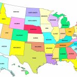 Printable Us Map Full Page | Sitedesignco   Printable Map Of The United States With State Names