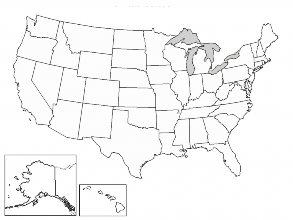 Printable Us Map Outline Free Refrence A Blank Map The United States - Printable Blank Map Of The United States