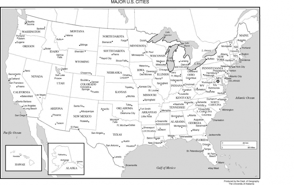 Printable Us Map With Major Cities And Travel Information | Download - Us Map With Scale Printable