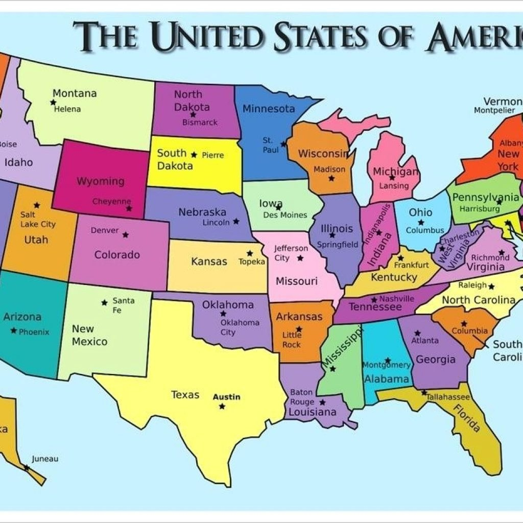Printable Us Map With States And Capitals Test Your Geography - Printable Us Map With Capitals