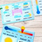 Printable Weather Charts   Perfect For Having The Kids Mark The   Printable Weather Map