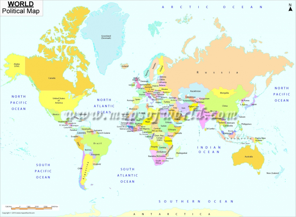 Printable World Map   B&w And Colored - World Map With Capital Cities Printable