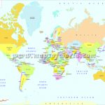Printable World Map | B&w And Colored   World Map With Capitals Printable