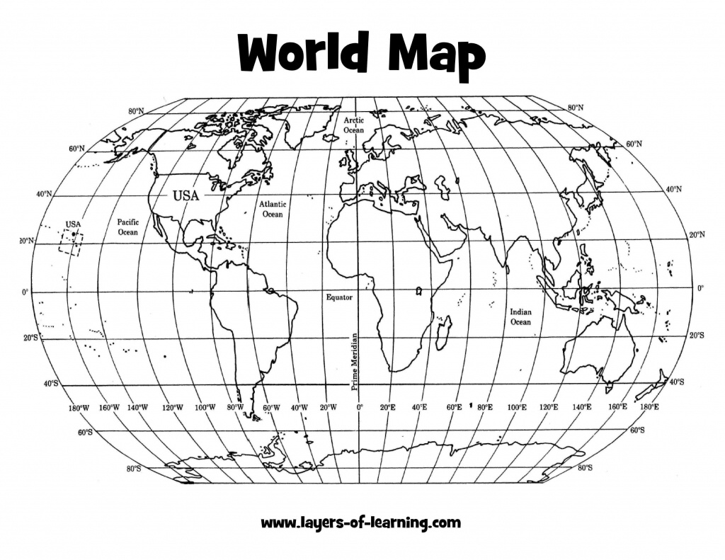 Printable World Map With Latitude And Longitude And Countries And - Printable World Map With Latitude And Longitude