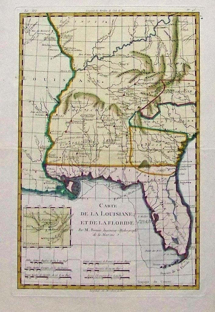 Prints Old & Rare - Florida - Antique Maps & Prints - Vintage Florida Maps For Sale