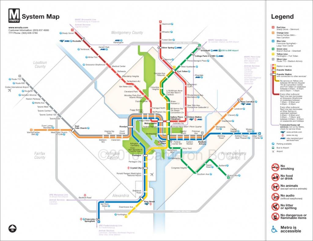 Project: Washington Dc Metro Diagram Redesign – Cameron Booth - Printable Metro Map Of Washington Dc