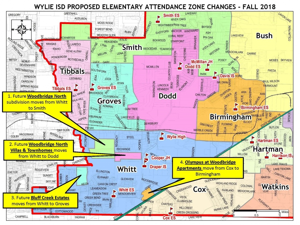 Proposed Elementary Attendance Zone Changes | Home | The Wylie Way - Wylie Texas Map