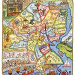 Providence Rhode Island Art Map 11 X 14 | Etsy   Printable Map Of Providence Ri
