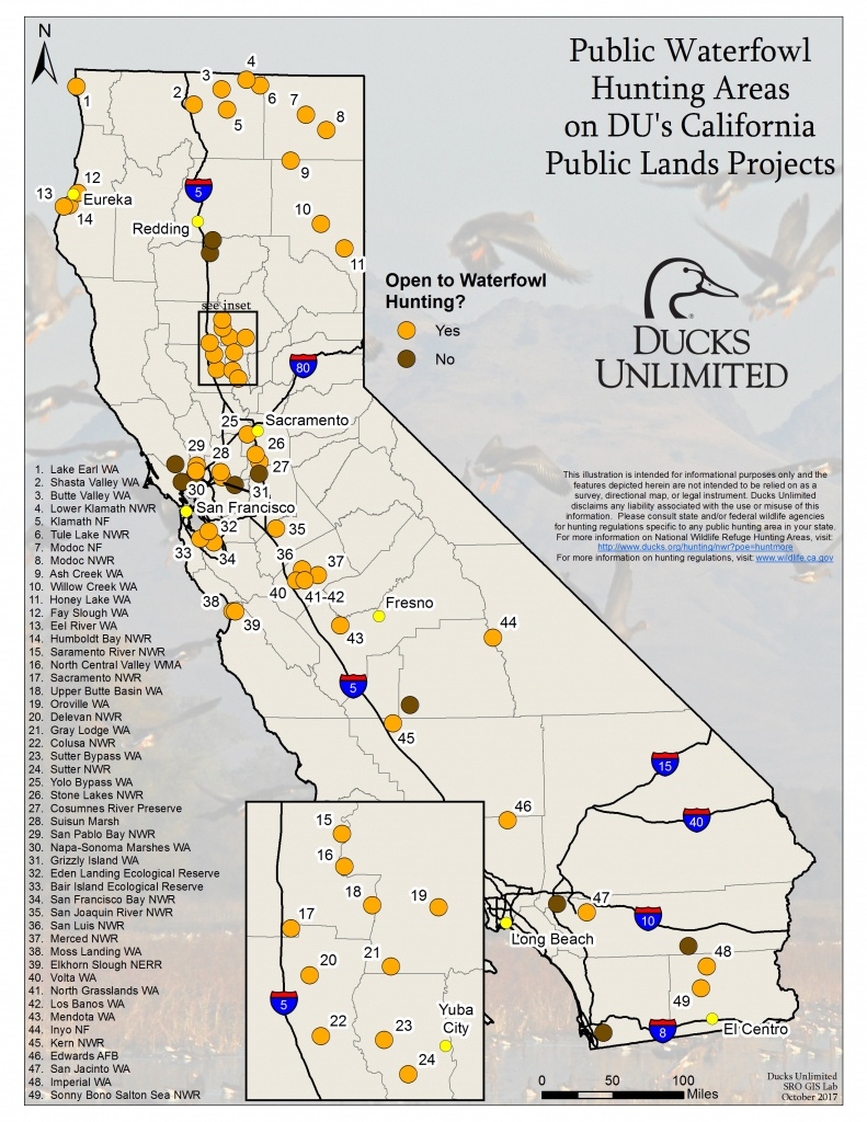 Public Waterfowl Hunting Areas On Du Public Lands Projects - Southern California Hunting Maps