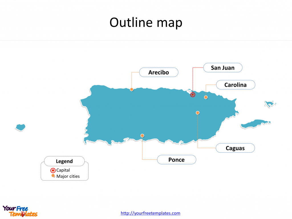 Puerto Rico Map Download - Free Powerpoint Templates - Outline Map Of Puerto Rico Printable
