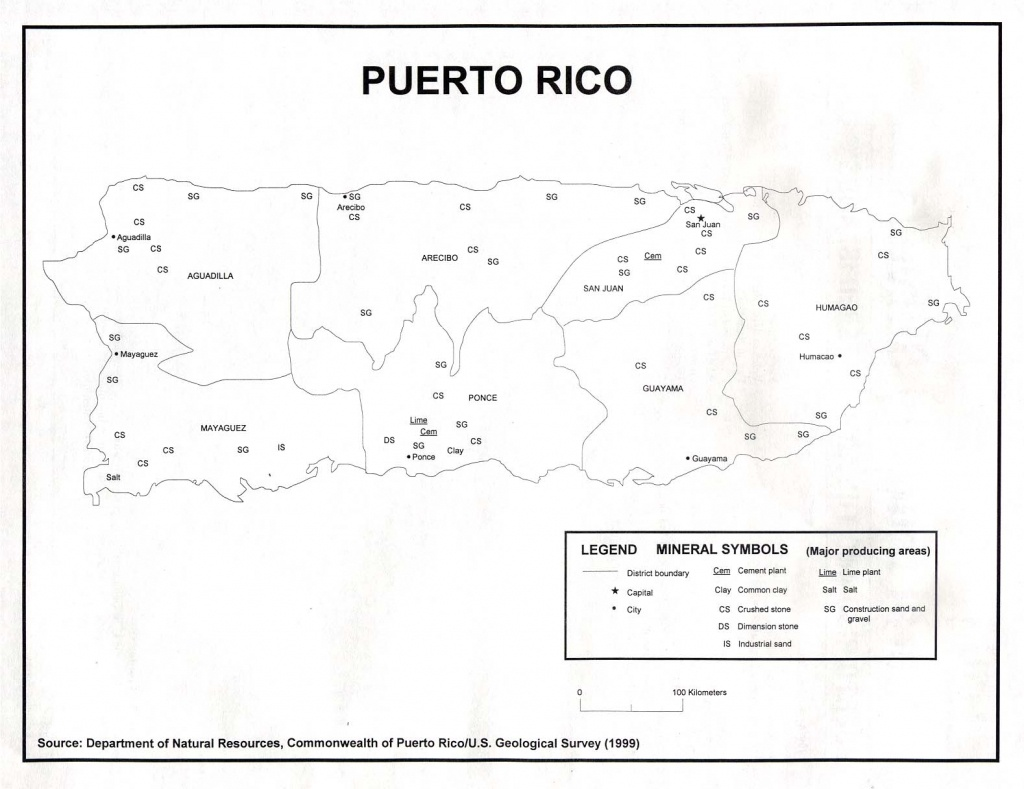 Puerto Rico Maps - Perry-Castañeda Map Collection - Ut Library Online - Outline Map Of Puerto Rico Printable