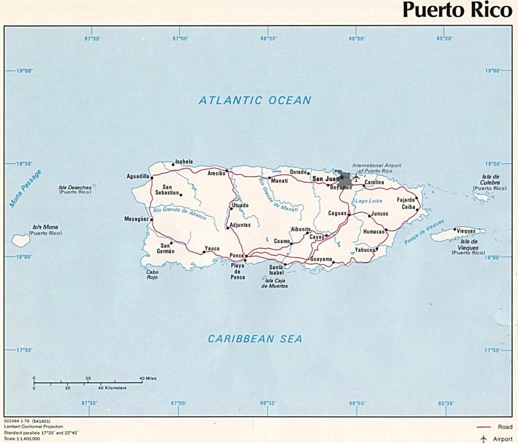 Puerto Rico Maps | Printable Maps Of Puerto Rico For Download - Printable Map Of Puerto Rico With Towns