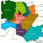 Quartier San Antonio Carte - Carte De Quartier San Antonio (Texas - Usa) - Lackland Texas Map