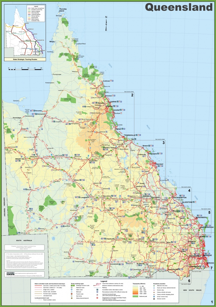 Queensland Tourist Map - Queensland Road Maps Printable