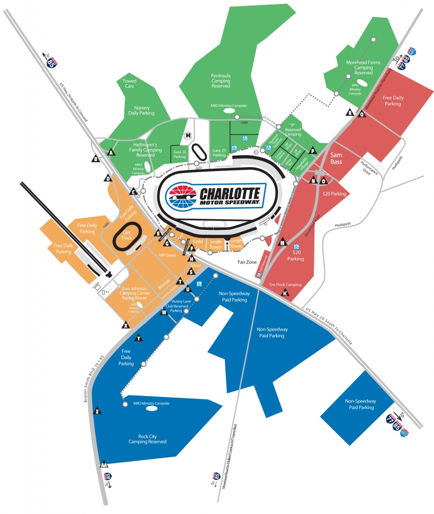 Race Day Parking   Tickets   The Speedway Club - Texas Motor Speedway Parking Map