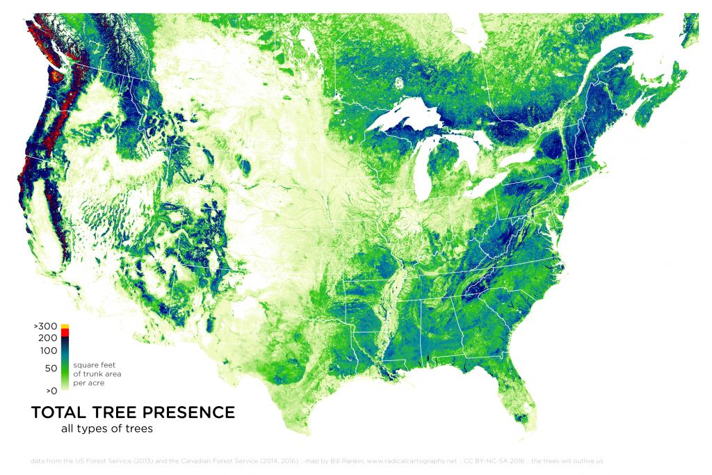 Radicalcartography - Texas Tree Map