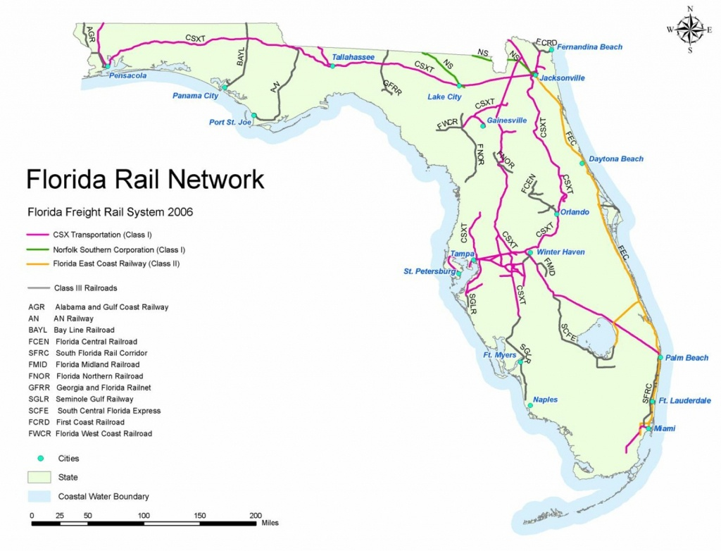 Railroad Map Of Florida | Shamanichorsework - Florida Railroad Map