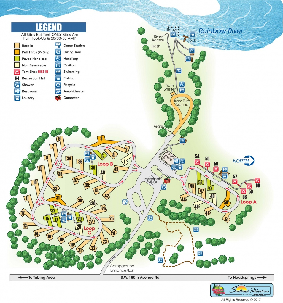 Rainbow Springs State Park - Know Your Campground - Florida State Park Campgrounds Map