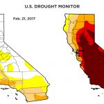 Rainy Season Helps Get California Out Of Extreme Drought Category   California Drought Map 2017