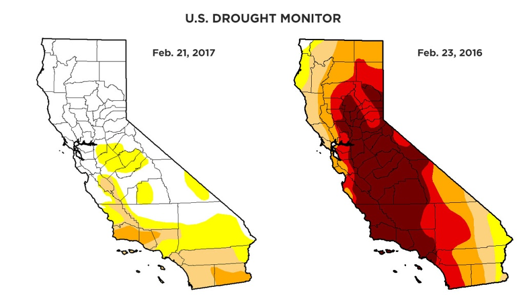 Rainy Season Helps Get California Out Of Extreme Drought Category - California Drought Map