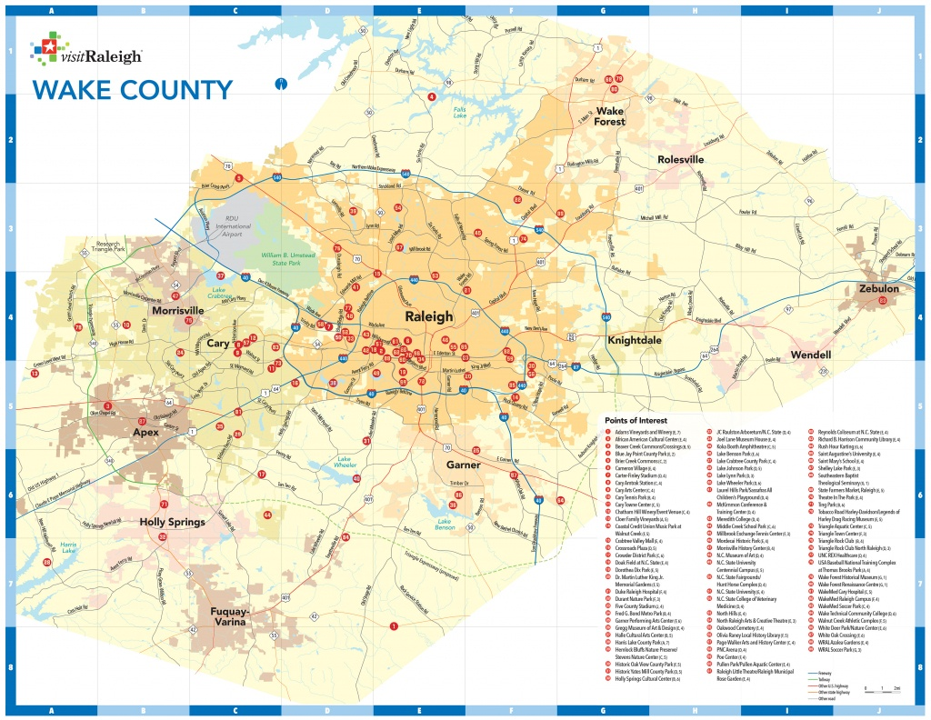 Raleigh, N.c., Maps | Downtown Raleigh Map - Printable Area Maps