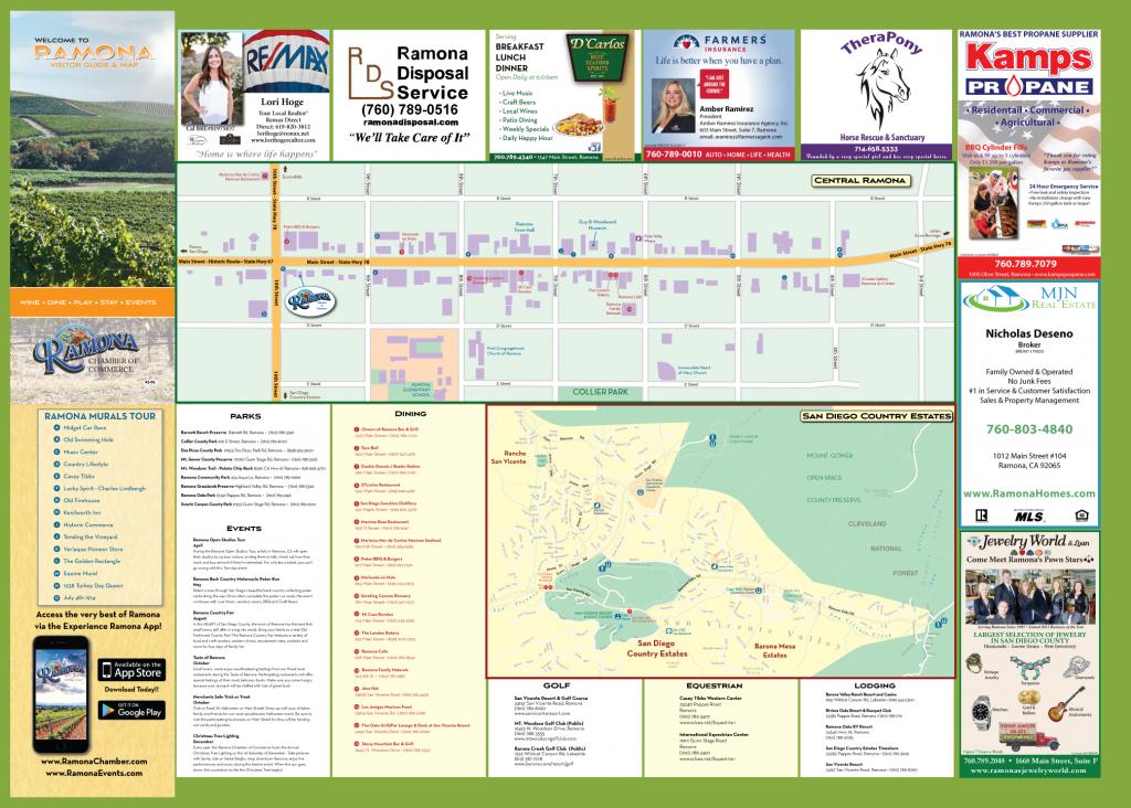 Ramona Community Map – Ramona Chamber Of Commerce - Ramona California Map