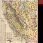 Rand, Mcnally & Co.'s Standard Map Of California And Nevada 1889   Map Of California And Nevada