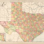 Rand Mcnally & Company's Indexed Atlas Of The World Map Of Texas   Rand Mcnally Texas Road Map