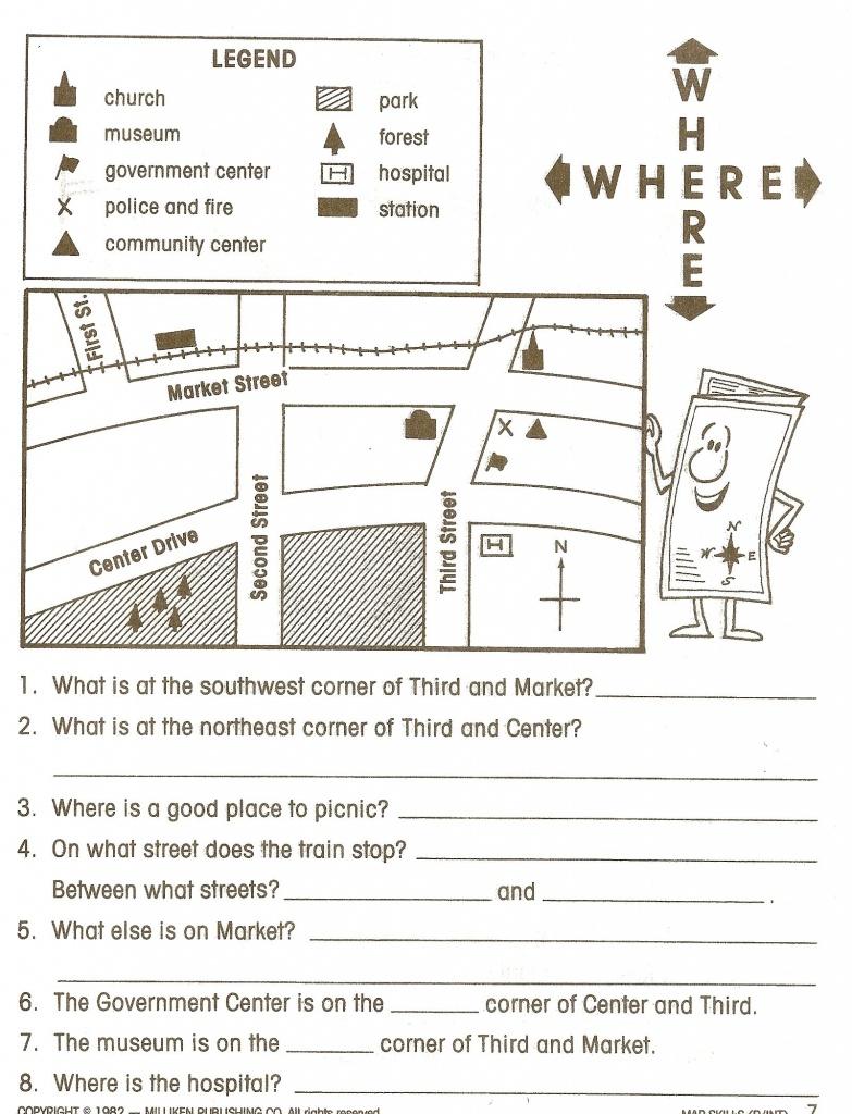 Reading Maps Worksheet Free Worksheets Library Download And - Printable Map Skills Worksheets