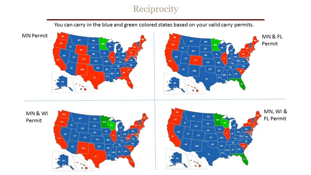 Reciprocity - Chandler's Conceal & Carry - Florida Carry Permit Reciprocity Map