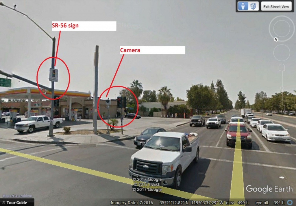 Red Light Ticket California Avenue / New Stine Road And Stockdale Hwy - Red Light Camera California Map