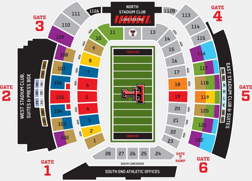 Red Raider Club   Football - Texas Tech Football Parking Map 2017