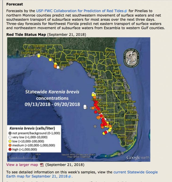 Current Red Tide Map Florida