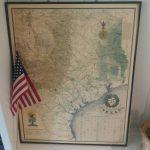 Reduced:vintage Texas Map Large Framed Nap Of Texas Texas   Etsy   Vintage Texas Map Framed