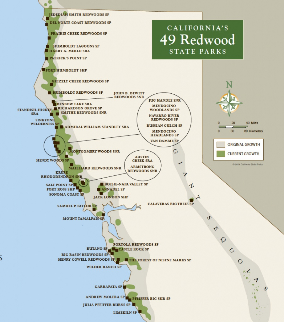 Redwood Parks Day Passes 'sold Out' (2015)   Save The Redwoods League - California Redwood Parks Map