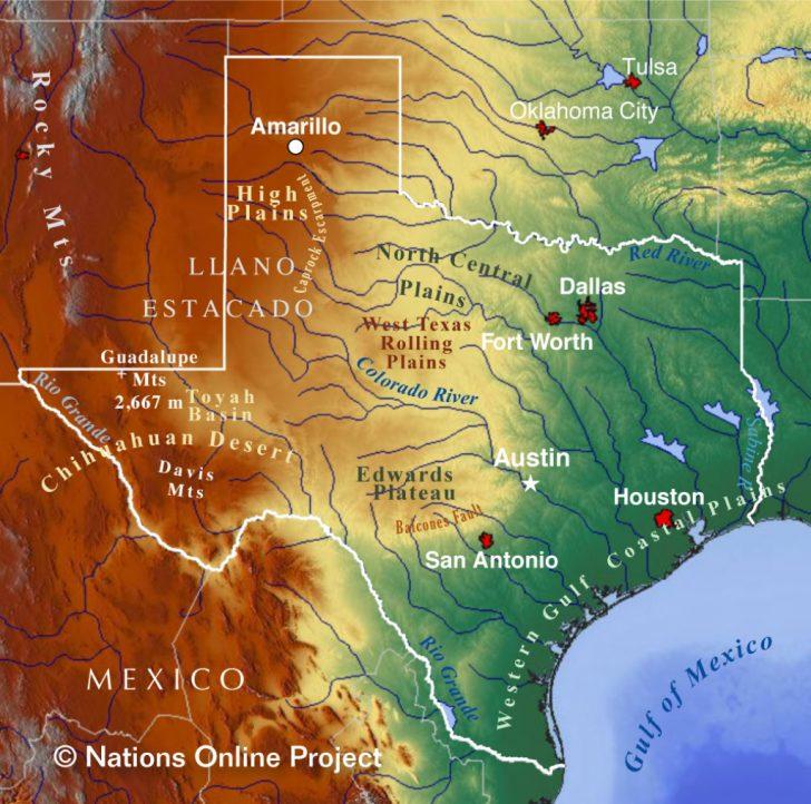 Ok Google Show Me A Map Of Texas