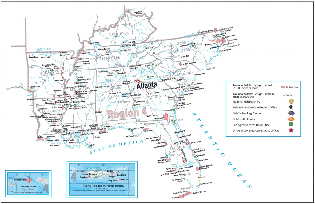 Region 4 (Southeast) Regional Wetlands Coordinator - Florida Wetlands Map