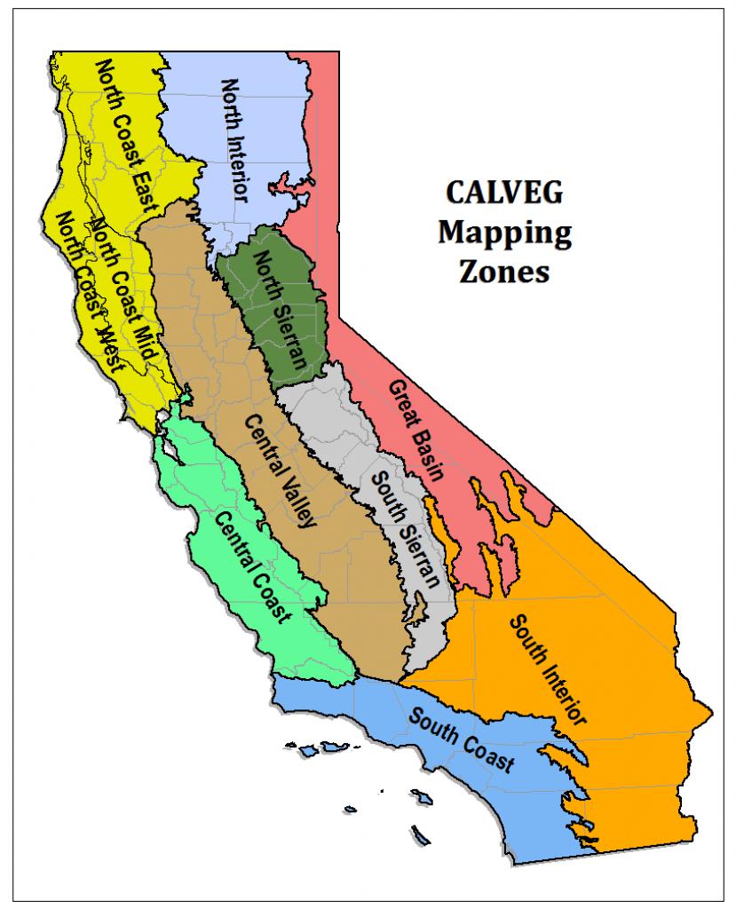 Region 5 - Resource Management - Usda Map California