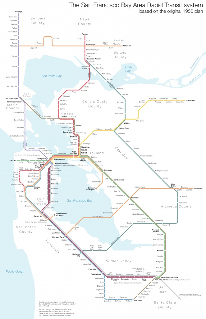 Regional Rapid Transit For The Bay Area - Winston California Map