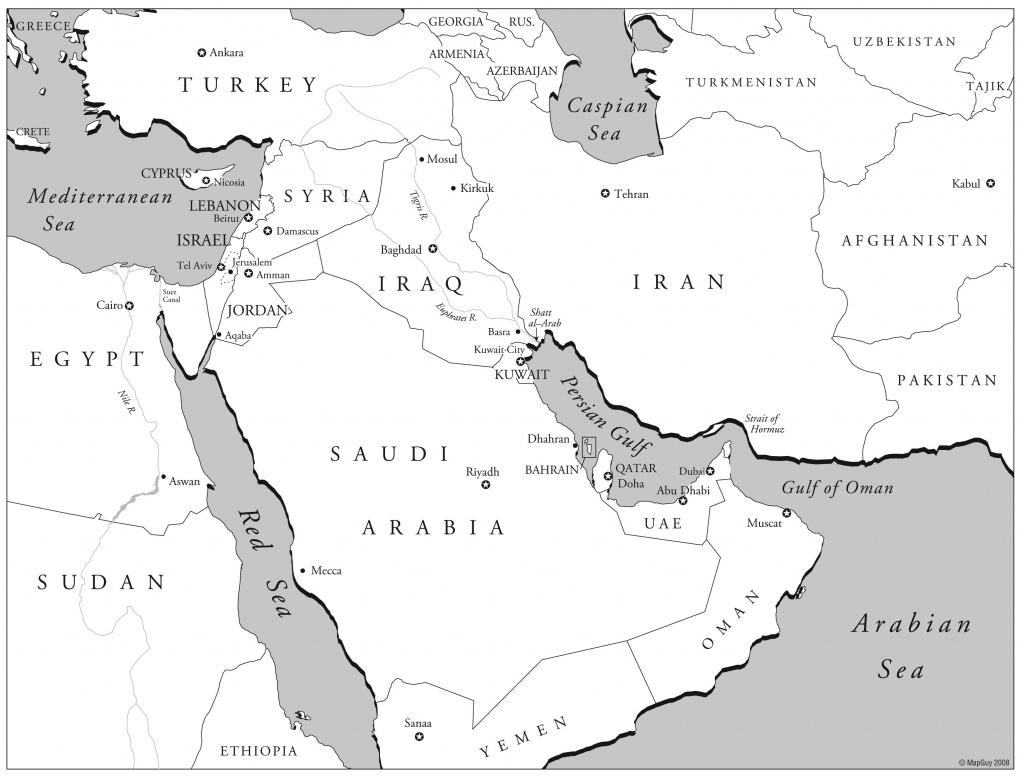 Reportage Les Bedouins Du Wadi Rum Vivre E Valid Map Of Printable - Printable Map Of Middle East