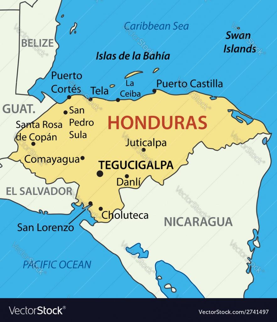 Republic Of Honduras - Map - Printable Map Of Honduras