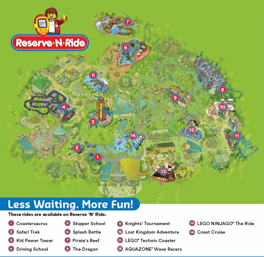 Reserve 'n' Ride System | Legoland California Resort - Legoland Map California 2018