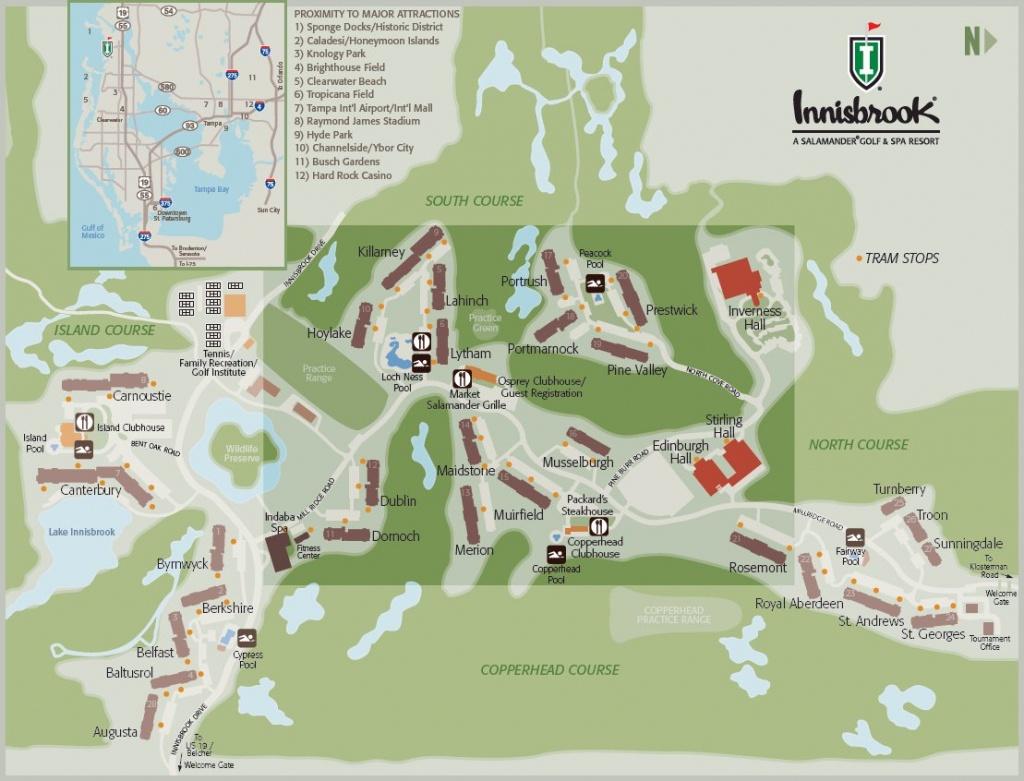 Resort Map   Innisbrook Golf & Spa Resort   Florida - Innisbrook Florida Map