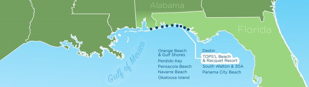 Resortquest Real Estate | Nw Fl & Al Gulf Coast Condos And Homes For - Ft Walton Florida Map
