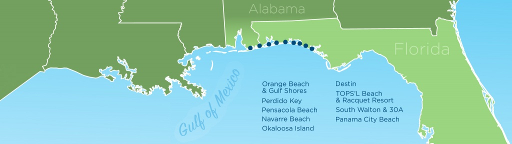 Resortquest Real Estate   Nw Fl & Al Gulf Coast Condos And Homes For - Panama City And Destin Florida Map
