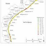 Retreating Shoreline Along Texas Gulf Coast | Earth | Earthsky   Texas Gulf Coast Beaches Map